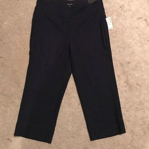 Dress barn cropped pull on pants